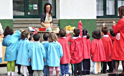 Taller de torno alfarero en escuelas
